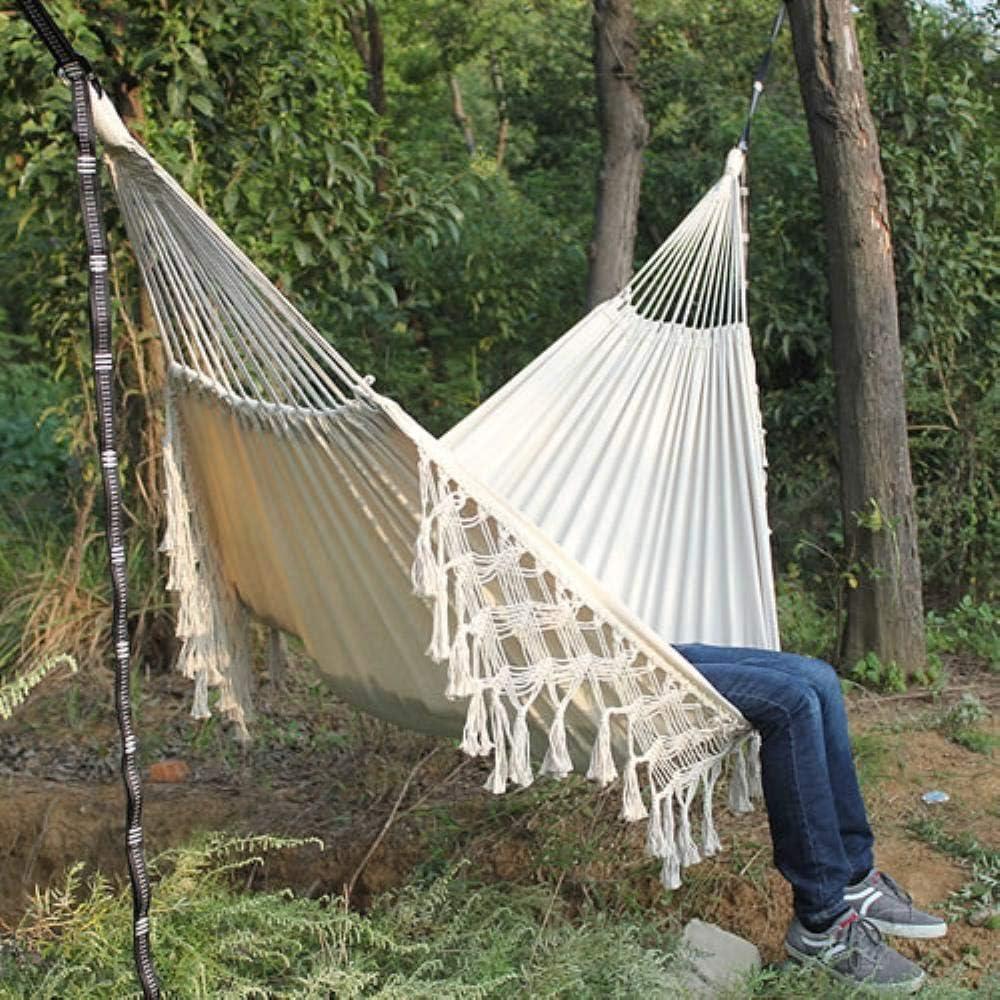 Pik Amaca Boho Grande Frangia Brasiliana macram/è 2 Persone Doppia Amaca Deluxe Swing Net Chair Coperta appesa Sedia Amaca altalene Cina Amaca Nera