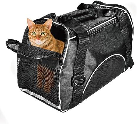 Portador Perro Gato Mascotas Transportin Plegable Capazos para Perros Bolsa Viaje de Tren y Avión Perfecto para Pequeños Perros y Gatos 42cm*20cm*30cm,Color Verde: Amazon.es: Productos para mascotas