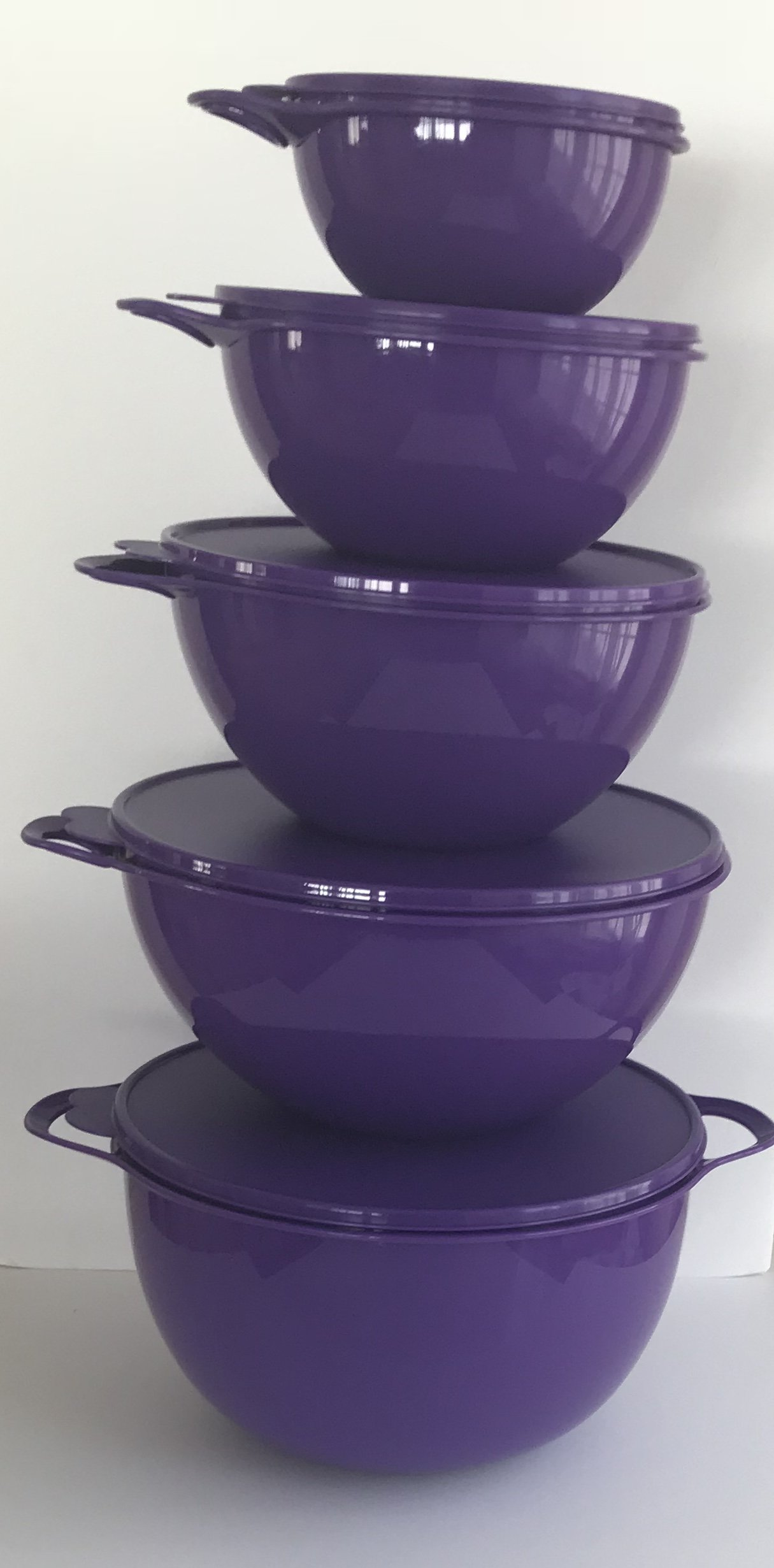 Tupperware Lot 5 Thatsa Mixing Bowl Set Rare 2,6,12,32,42 Cup