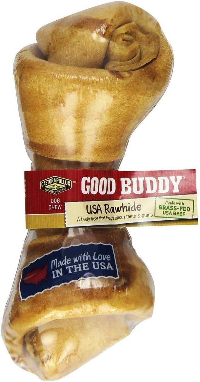 Good Buddy Castor Pollux USA Rawhide Bone, 6-7 Inch Bone Pack of 6