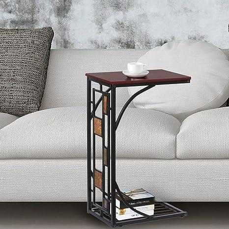 Amazon.com: Bandeja de café lateral sofá mesa otomana sofá ...