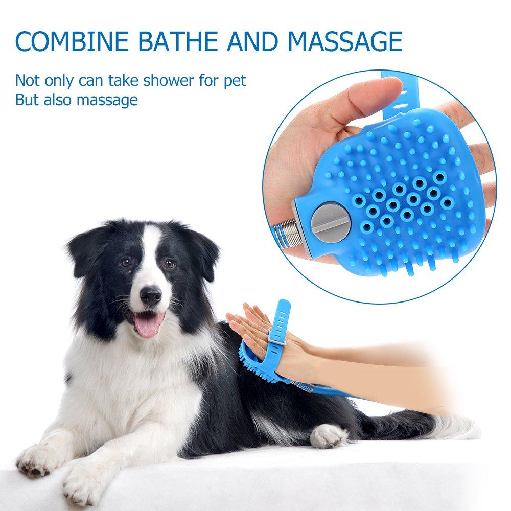 Pet Shower Sprayer Dog Bathing Tool - Shower Head & Brush in One 8.2 Ft Hose 2 Adapters, Dog Cat Horse Grooming & Massage, Dog Wash Bathtub Outdoor Use by Wonder (Image #6)
