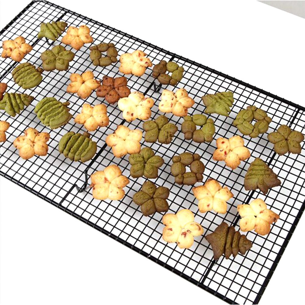 Professional Cross-Wire Grid Cooling Rack Carbon Steel Non Stick Metal Wire Grid Sheet Pans for Cooling Cakes, Cookies, Muffins - 18''x10''