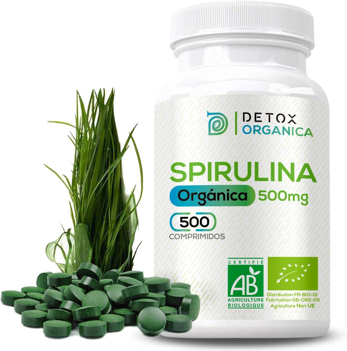 Espirulina Ecologica Comprimidos Orgánica - 500 x 500 mg ...