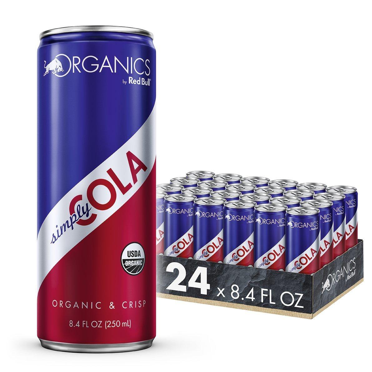 Organics by Red Bull Simply Cola 24 Pack of 8.4 Fl Oz, Organic Soda Drink