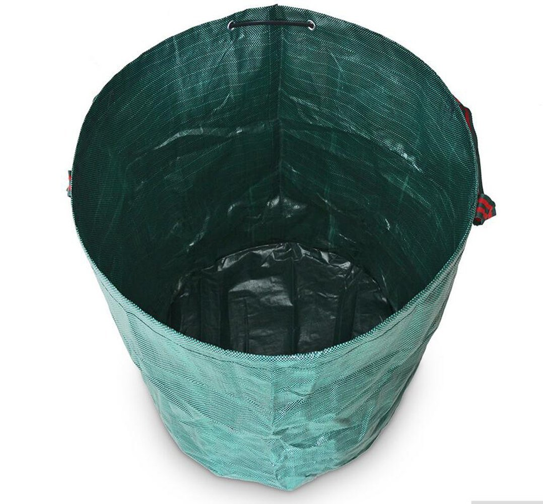 Sunwin 72 Gallons Garden Waste Bags Pack of 3 Reuseable Heavy Duty Gardening Bags Lawn Pool Garden Leaf Bag
