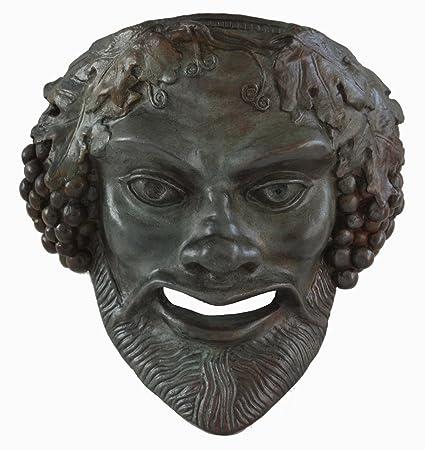 """Máscara de Baco """"la fuerza liberadora"""" – Color Bronce efecto – Teatro griego"""