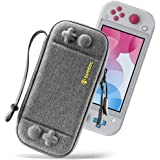 tomtoc Ultra Slim Case for Nintendo Switch Lite, Original Patent Protective Portable Carrying Case Travel Storage Hard Shell with 8 Game Cartridges and Military Level Protection, Gray