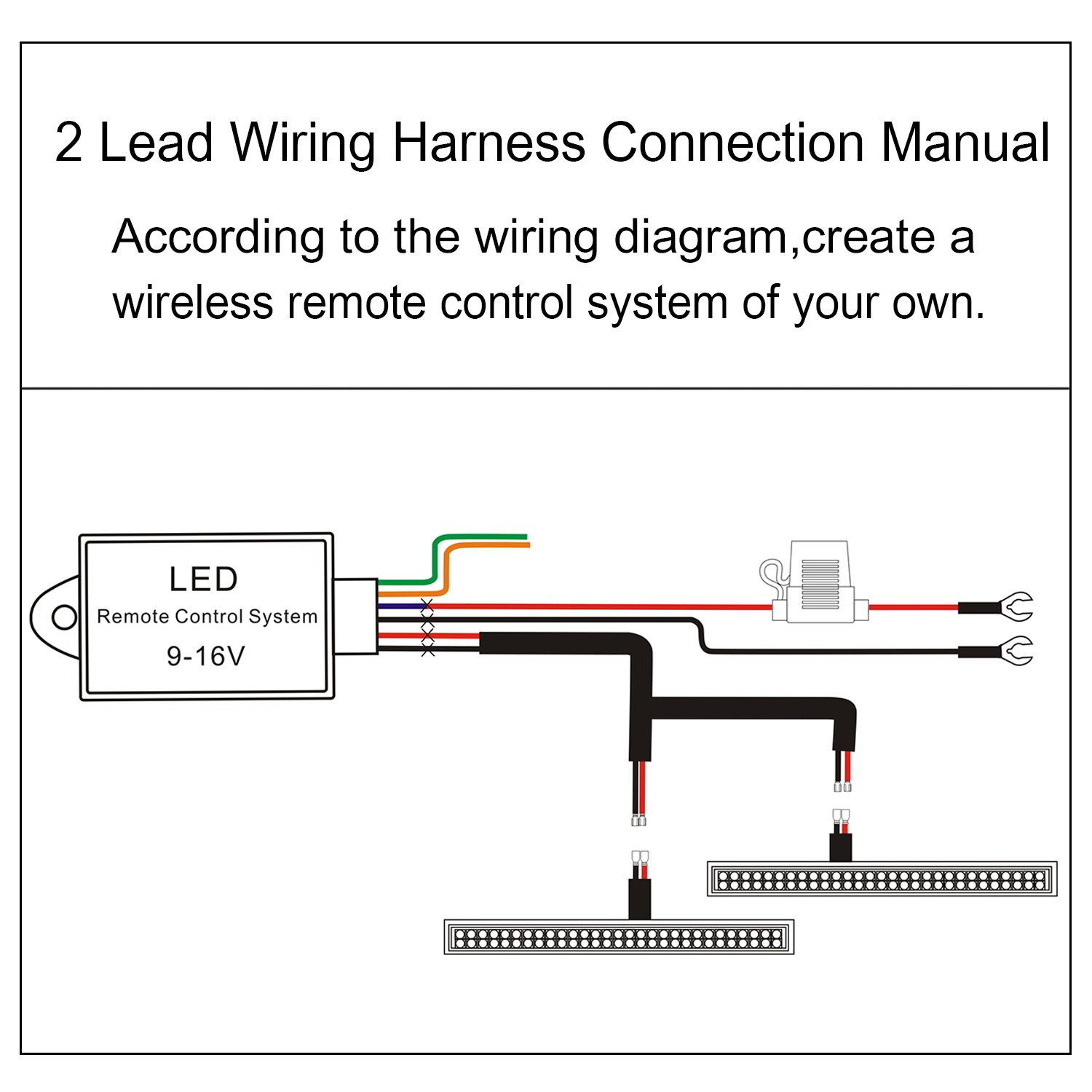 Led Light Bar Remote Wiring Harness Wireless 12 Volt Strip Diagram Free Picture For Driving Fog Pods Work