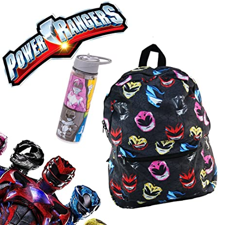 Mighty Morphin Power Rangers School Backpack Luggage Bag With Waterbottle