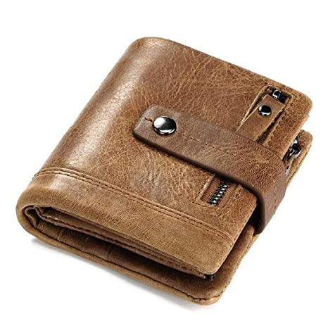 372cba08dc7e80 SPL KAVI's K0028 Genuine Leather Dual Zipper Short Wallet for Men -13 Card  Slots (Brown): Amazon.in: Bags, Wallets & Luggage