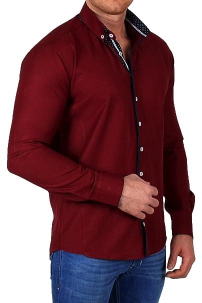 Ombre - Camisa Casual - con Botones - Manga Larga - para Hombre ...
