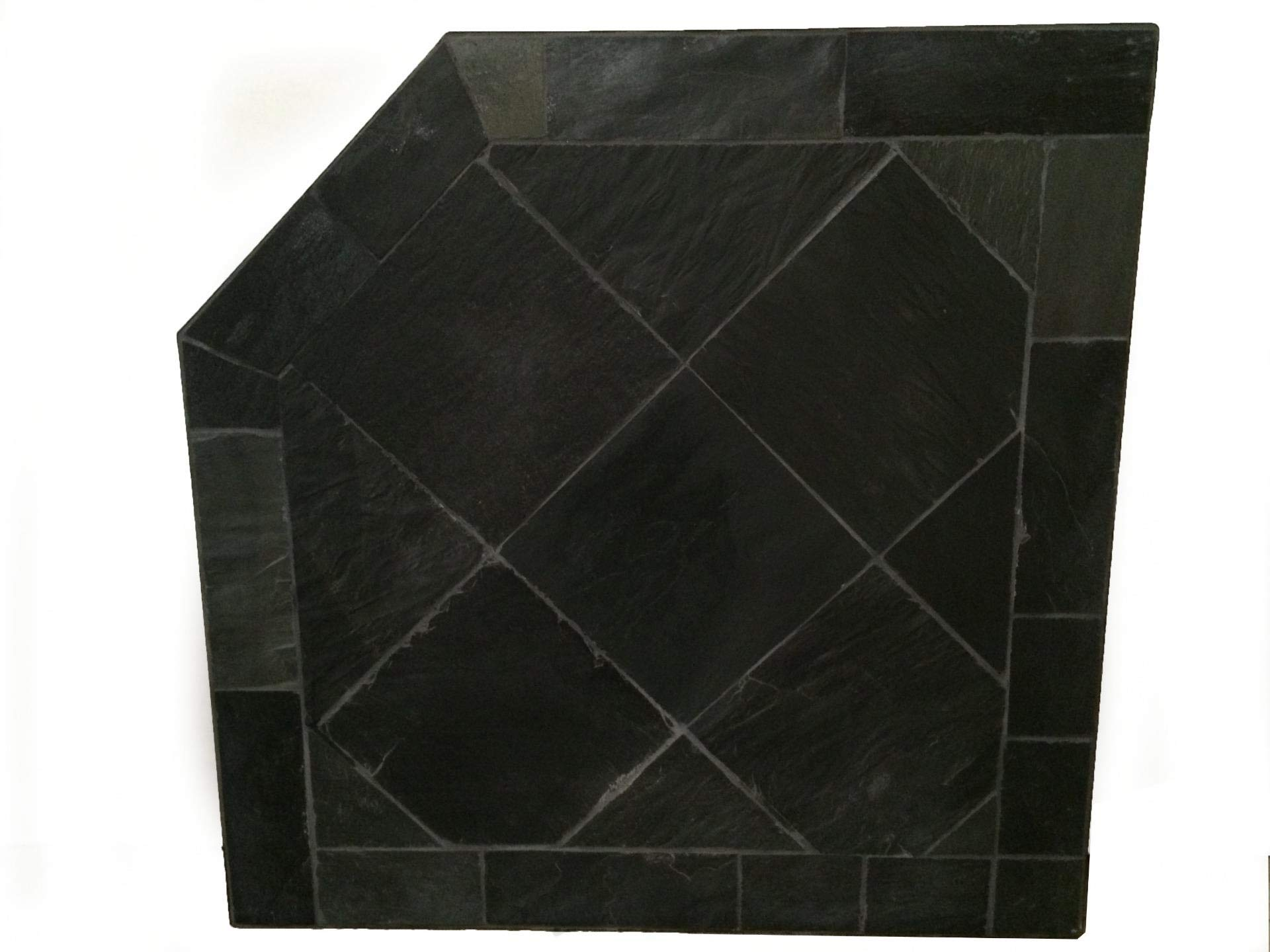 Dreffco 40'' x 40'' Obsidian Woodstove or Pellet Stove Protective Corner Hearth Pad by Dreffco