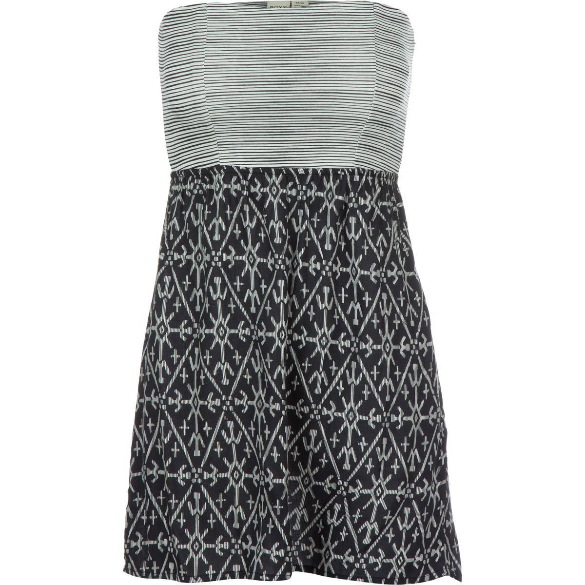 d96bcc6969 Roxy Womens Roxy Savage 3 - Woven Bandeau Dress - Women - M - Black True  Black Mirage Marking M at Amazon Women s Clothing store