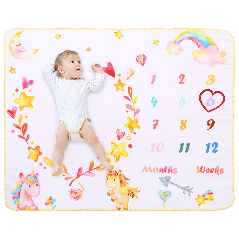 100cm Dinosaur Baby Milestone Blanket Photography Soft Baby Fleece Blanket for Baby Girl /& Boy Perfect Baby Presents Newborn Gift Baby Shower Gift White 120