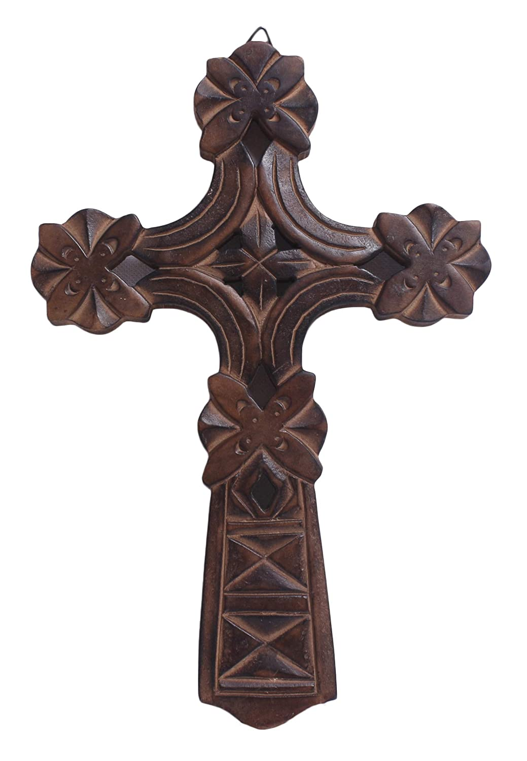 Wooden Wall Cross Plaque 12