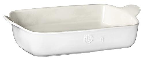 Emile Henry Modern Classics Large Rectangular Baker, 13 x 9, White