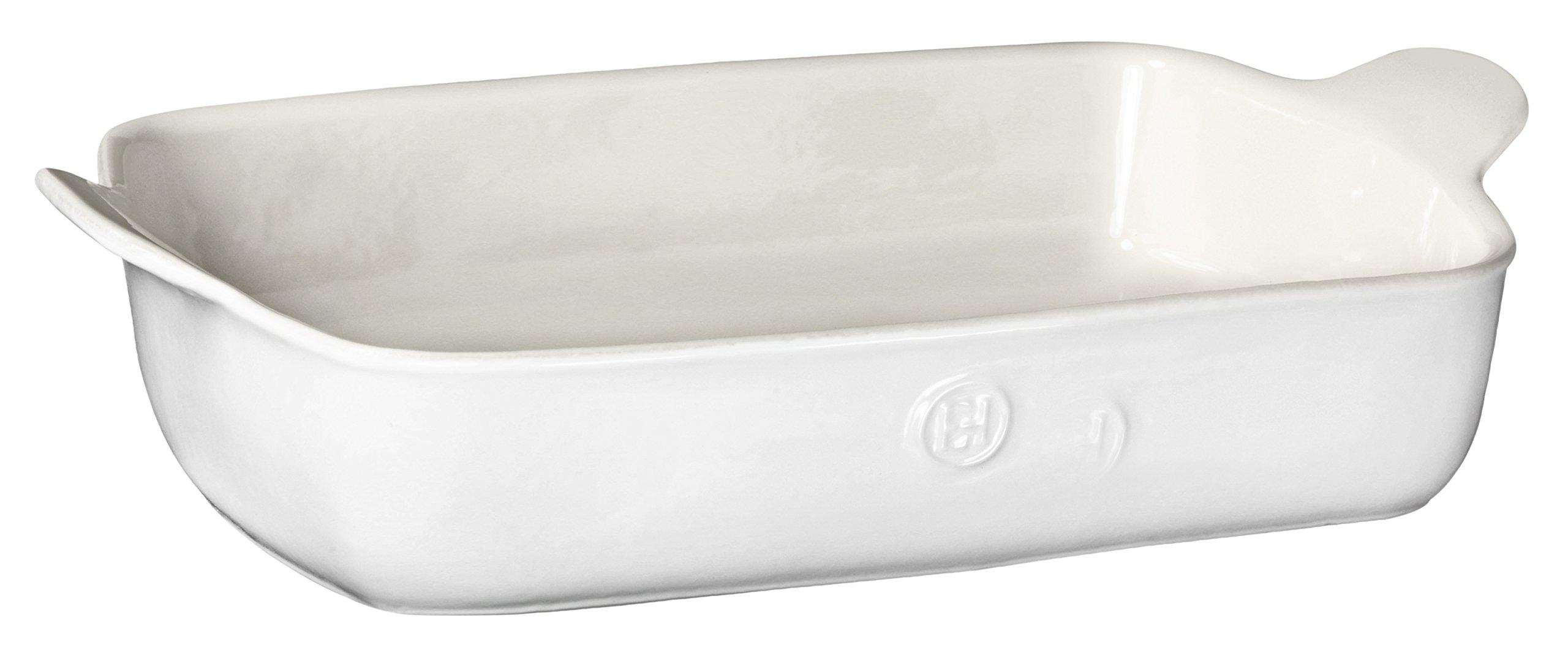 Emile Henry Made In France HR Modern Classics Large Rectangular Baker, 13 x 9'', White