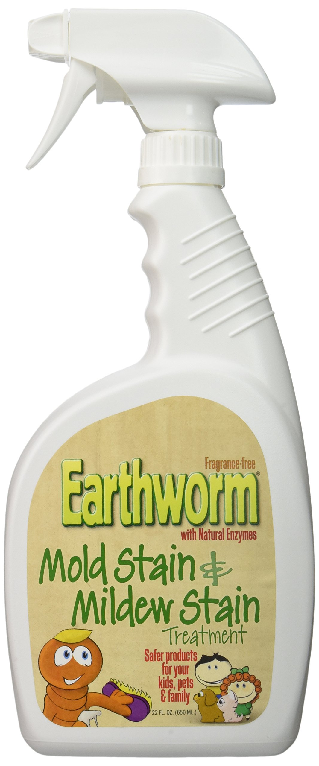 Earthworm® Mold Stain and Mildew Stain Treatment - Natural and Family-Safe - 22 oz