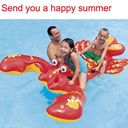 Amazon.com: Transer Inflatable Lobster Floating Mat Swimming ...