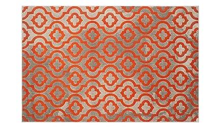 Tappeto moderno economico stile classico tappeto soggiorno arancione ...