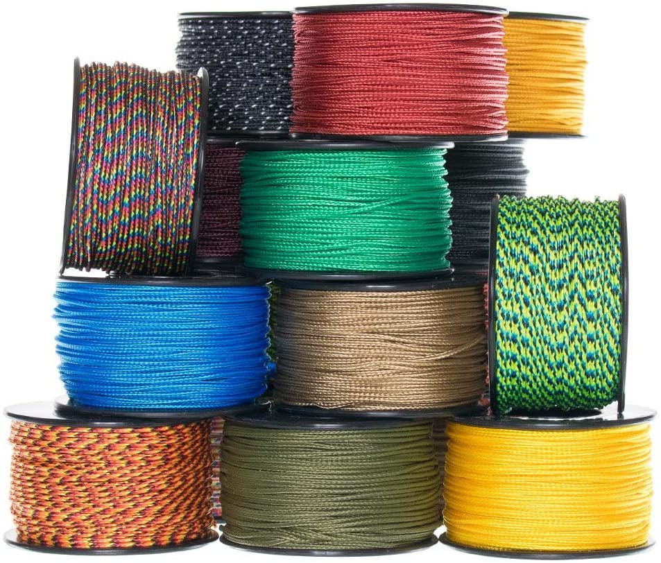 Various lengths and colors USA Made 95 Type 1 Cord and 275 Paracord Crafting Paracord Planet Micro 90 Cord