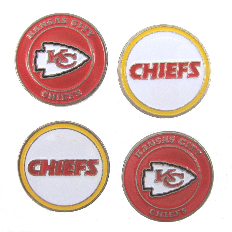 Kansas City Chiefsゴルフボールマーカー( Set of 4 )   B077XM82Q2