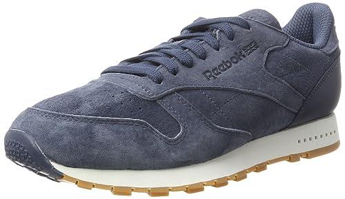 Classic Leather SG, Zapatillas para Hombre, Azul (Collegiate Navy/Chalk-Gum), 44 EU Reebok