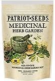 Patriot Seeds 10 Variety Seed Pack 100-Percent Heirloom Medicinal Herb Garden