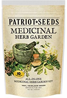 Amazoncom Medicinal Herb Garden 10 Variety Seed Pack 100
