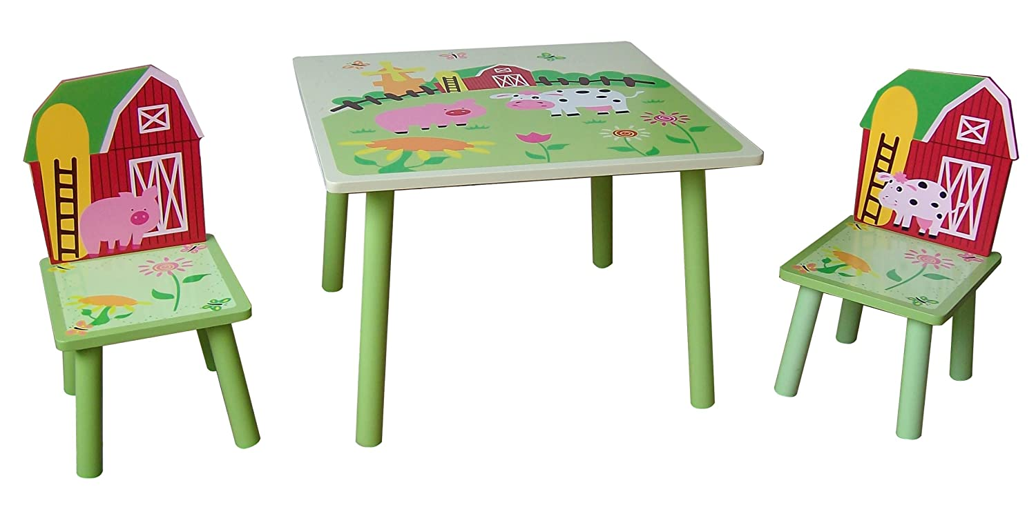 farm kids multi table and  chairs  brand new  amazoncouk  - farm kids multi table and  chairs  brand new  amazoncouk kitchen home