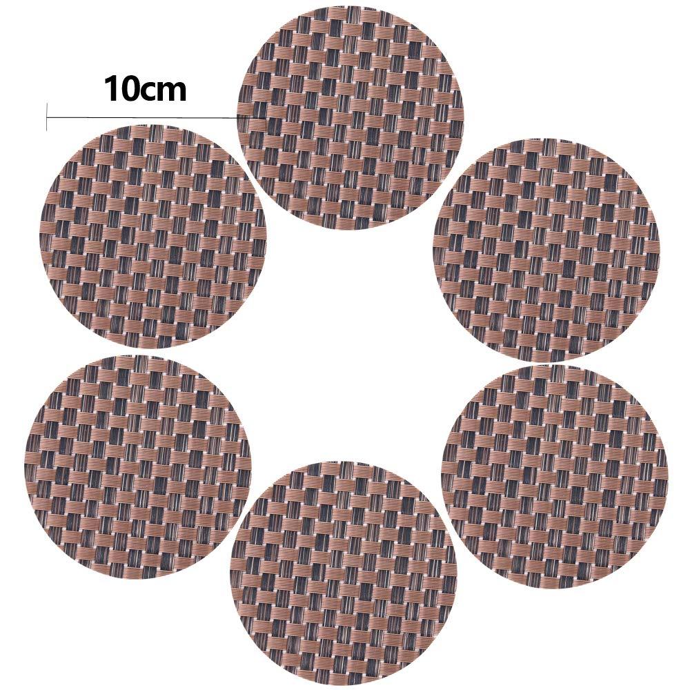PVC-Arancio Time to Sparkle Set di 6 Tovagliette in Vinile PVC Tovagliette da Tavola Non-scivolose Lavabile Resistenti al Calore