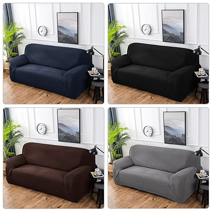 Amazon.com: Sofá funda para sofá, sundlight sólido funda de ...