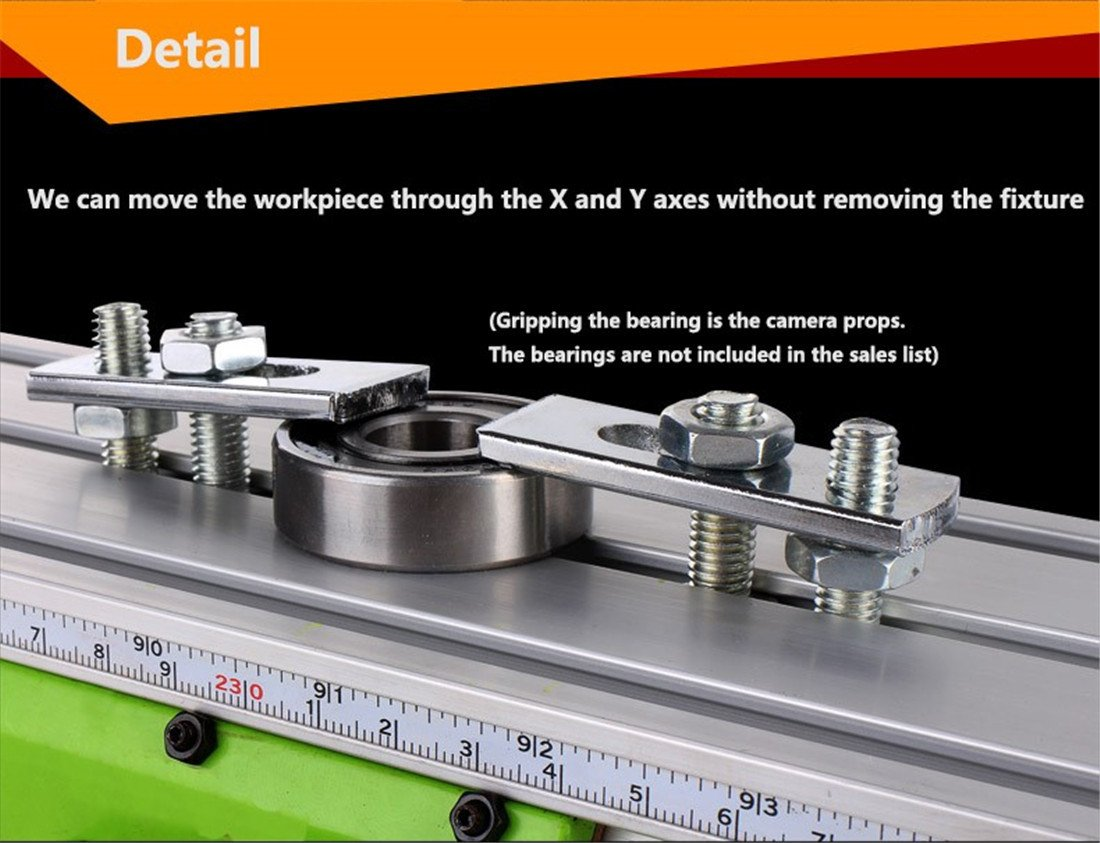 Milling Worktable 310×90MM Milling Working Table Milling Machine Compound Drilling Slide Table For DIY Bench Drill by TOAUTO (Image #7)