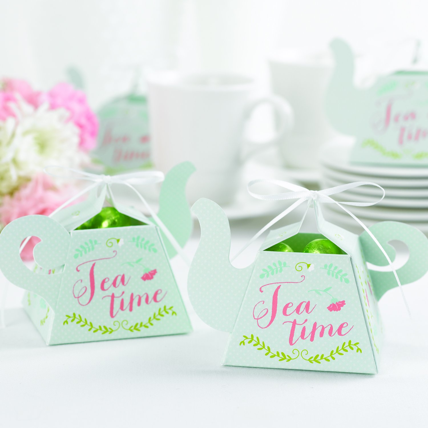 Amazon.com: Hortense B. Hewitt 12 Count Favor Boxes, Tea Time ...