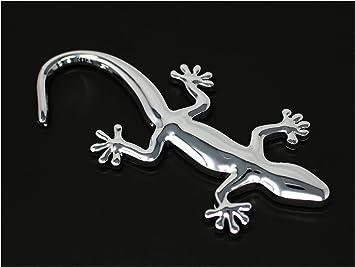 3d Emblem Gecko Mit Schaumstoff Kleberückseite Von Vmg Store Chrom Auto
