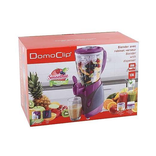 Batidora con grifo (Mix Depósito de 1,5 litros Smoothie maker Licuadora (Blender, licuadora, 350 W, leche Coctelera, cóctel de Maker, lila): Amazon.es: ...