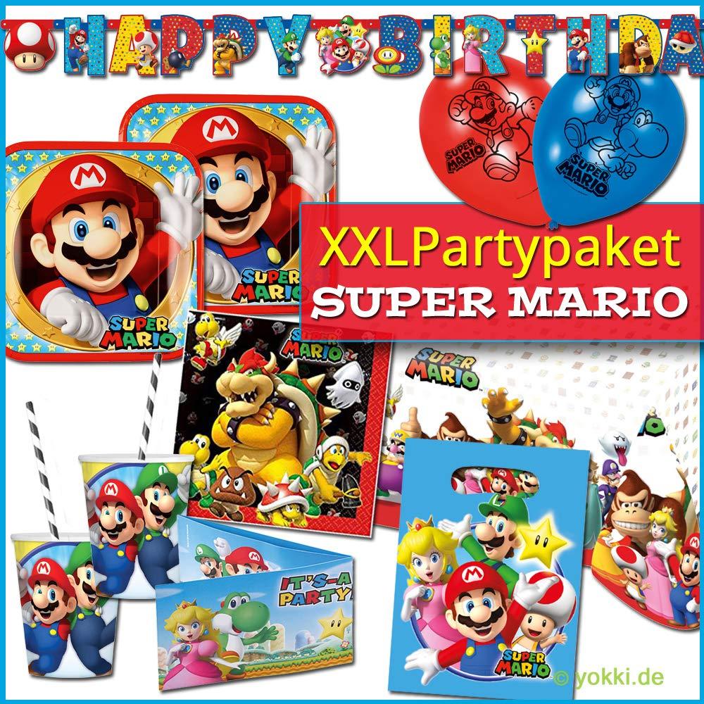 68 partido pieza set Super Mario - placa copas servilletas ...