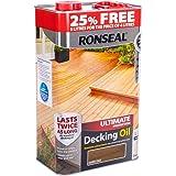 Ronseal RSLUDODO4LAV Ultimate Protection Decking Oil, Dark Oak, 5 Litre