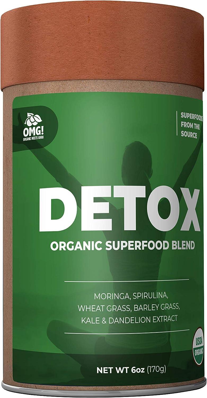 OMG! Superfoods Organic Detox Blend Powder - 100% Pure, USDA Certified Organic Detox Blend Powder - 6oz