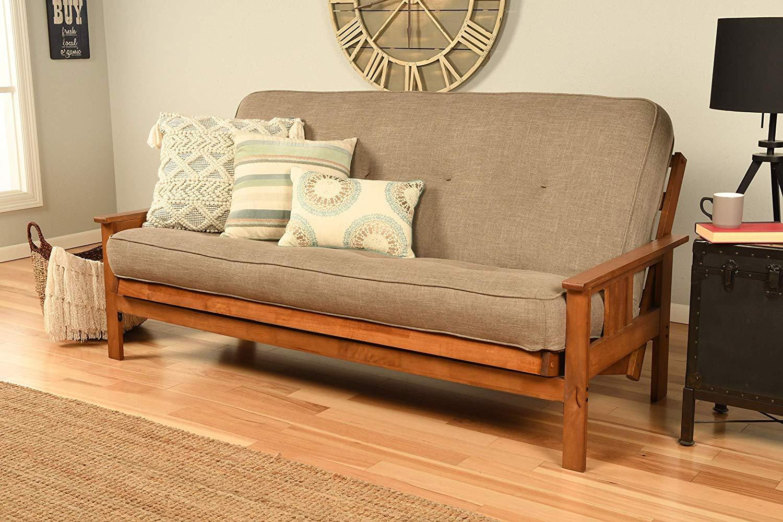 Kodiak Furniture Monterey Futon Set with Barbados Finish, Full, Linen Stone by Kodiak Furniture