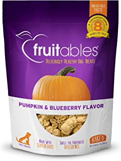 product image for Fruitables Crunchy Baked Dog Treats | Pumpkin & Blueberry