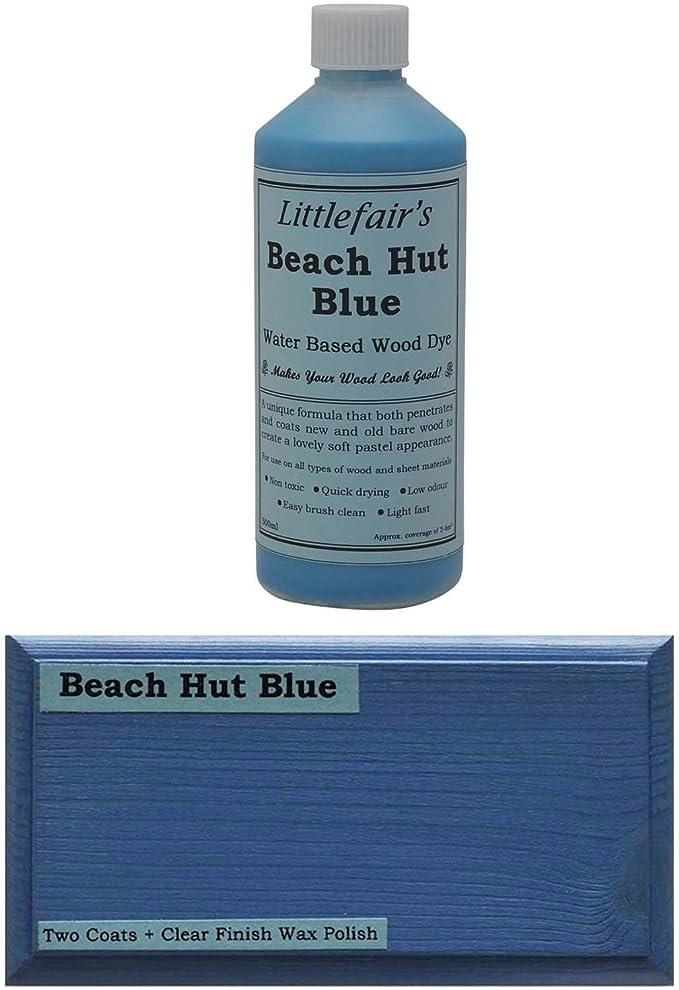 Littlefairs - Tinte para madera con base acuosa, gama pastel, azul
