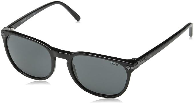 666dce6da7a4 Polo Ralph Lauren Men's 0Ph4107 500187 53 Sunglasses, Black/Gray ...