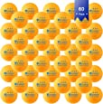 KEVENZ 60-Pack 3-Star 40+ Table Tennis Balls,Advanced Ping Pong Ball (Orange White Assorted Color)