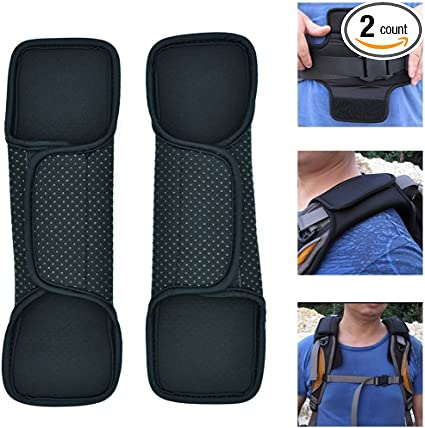 2 pcs Foam Car Seat Belt Safety Pad Shoulder Strap Cover Cushion Rucksack Bags
