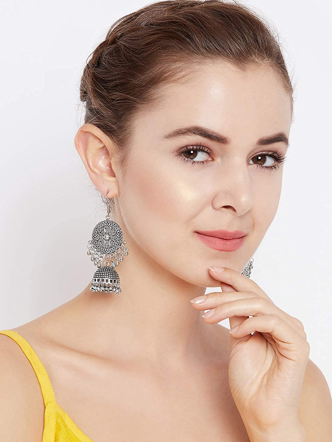 ZeroKaata/ Fashion Jewellery Hearts And Everything Pretty Embellished Tribal Jewellery Jhumki Earrings For Women /& Girls