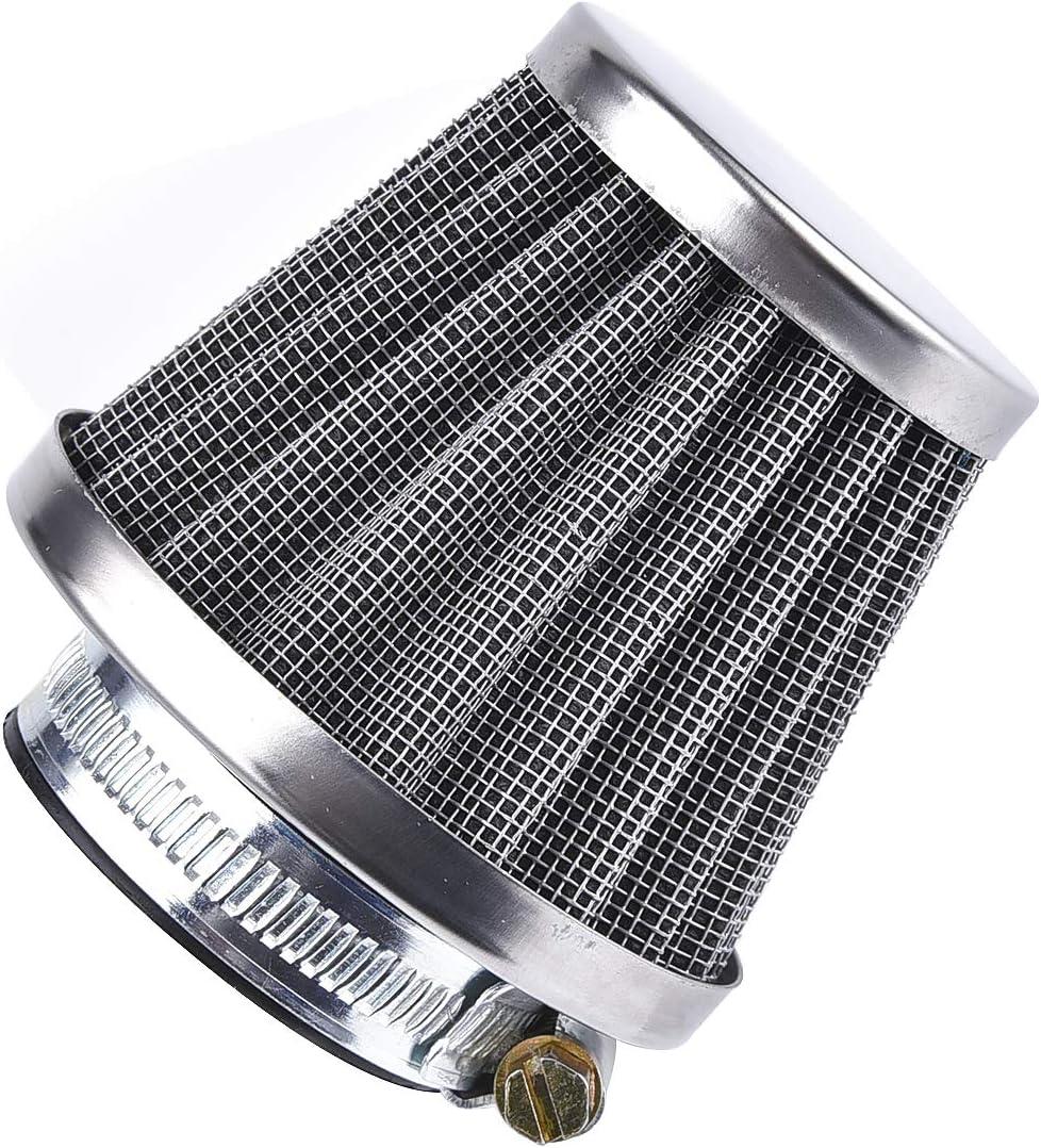 Filtro de aire con abrazadera para TRX 250 TRX250 Recon TRX250EX ATV Quad Chrome