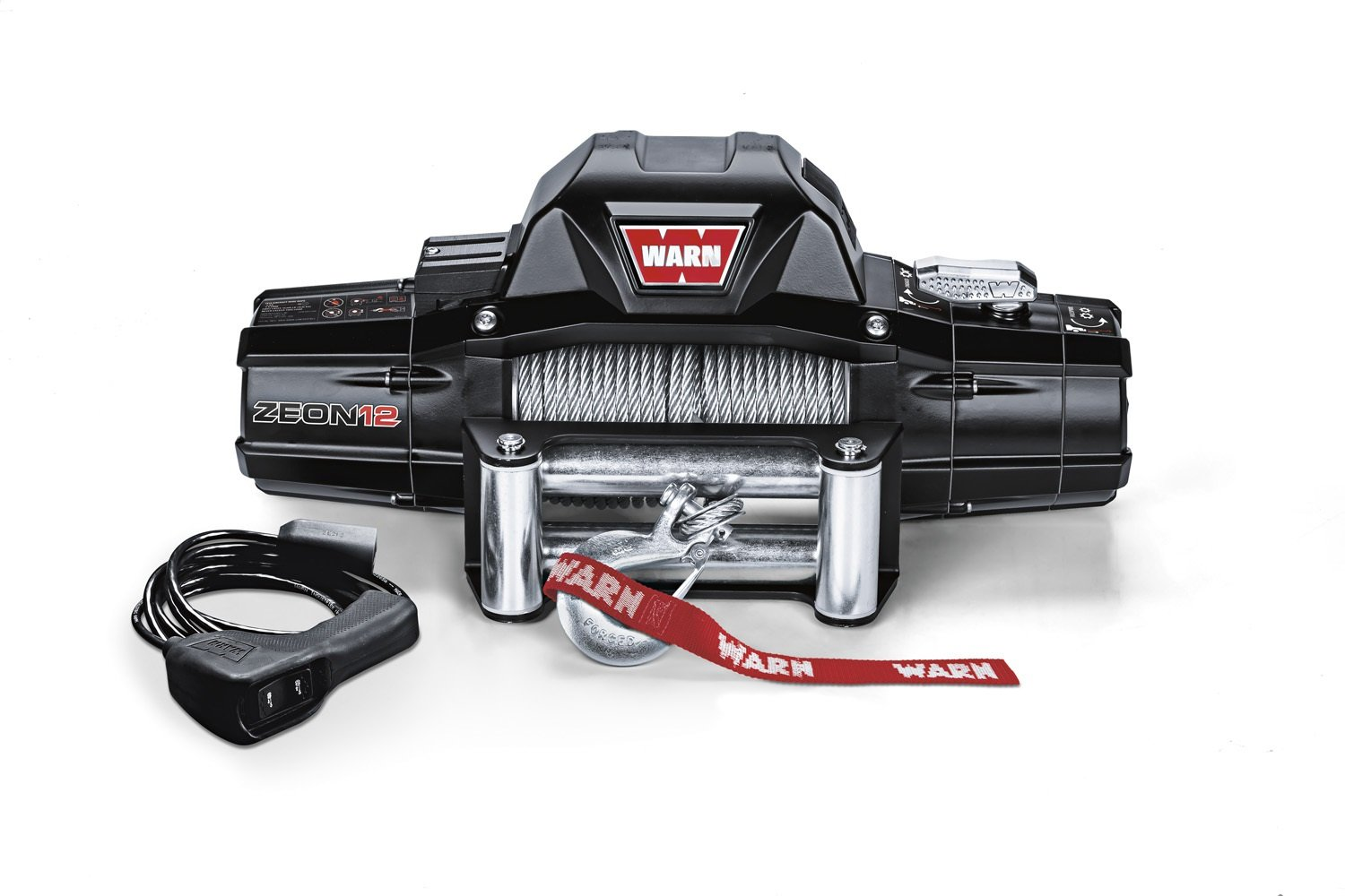 Amazon.com: Warn 89120 ZEON 12 Winch with Wire Rope - 12000 lb ...