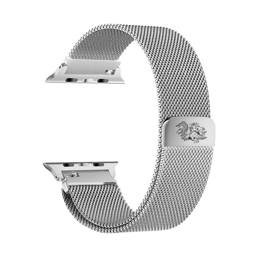 South Carolina Gamecocks Stainless Steel Band Compatible with The Apple Watch - 42mm/44mm by AB Bands